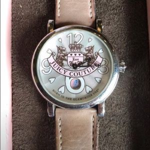Juicy Couture watch with leather band